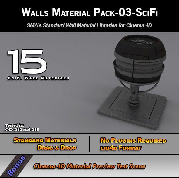 Standard Walls Material Pack-03-SciFi for C4D - 3DOcean Item for Sale