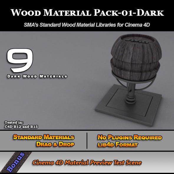 Standard Wood Material Pack-01-Dark for Cinema 4D