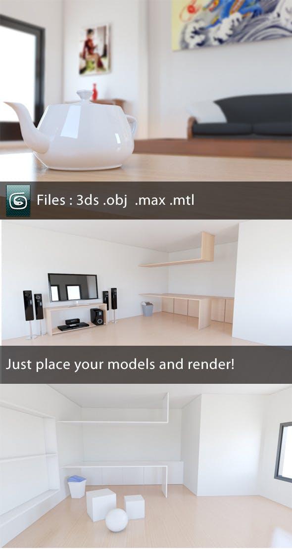 Realistic Lighting Scene - 3DOcean Item for Sale