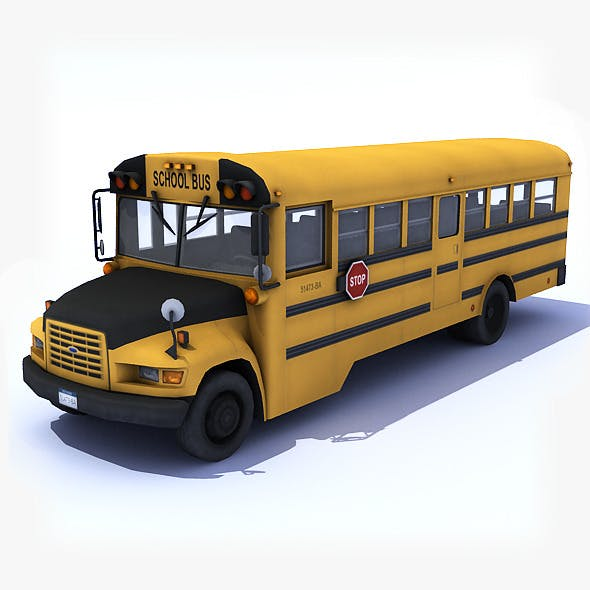 School Bus - 3DOcean Item for Sale
