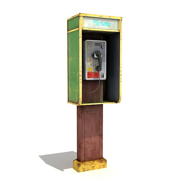 Small Phone Booth - 3DOcean Item for Sale