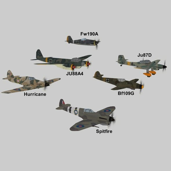 WWII Planes Pack - 3DOcean Item for Sale