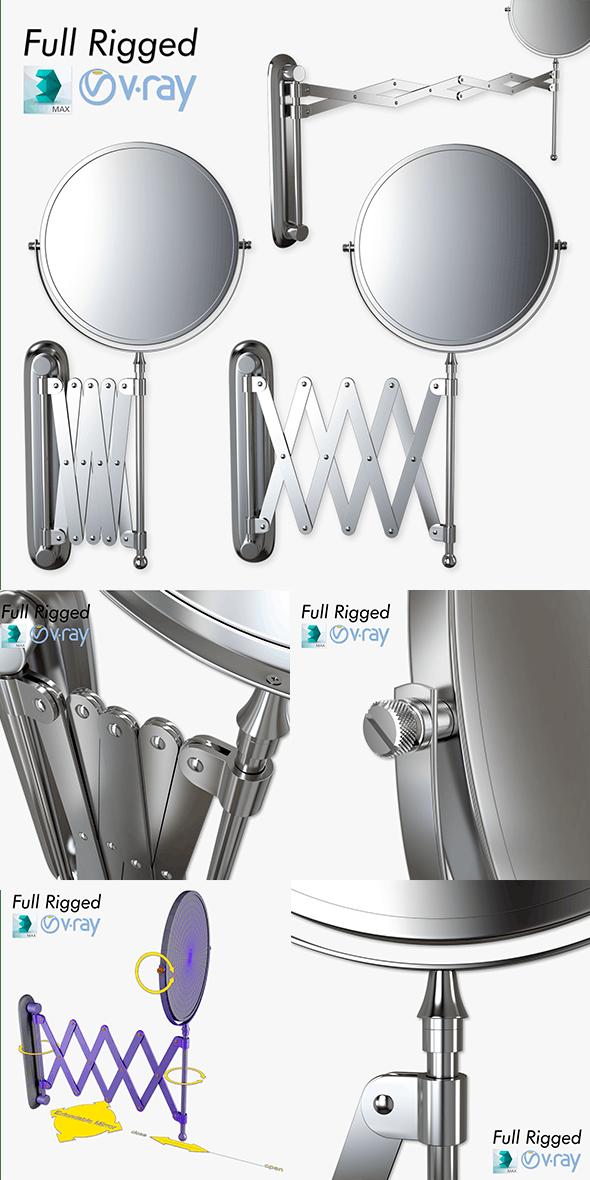 Scissor Wall Mirror - 3DOcean Item for Sale