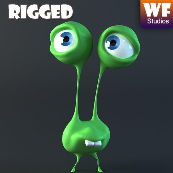 Cartoon Alien - Rigged