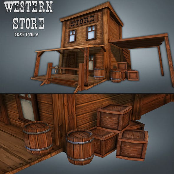 Western Store / Goods - 3DOcean Item for Sale