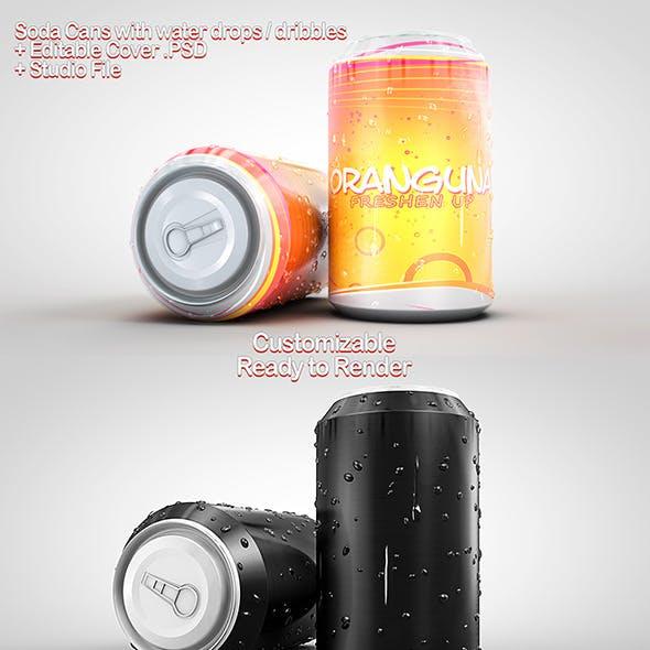 Soda Cans + PSD