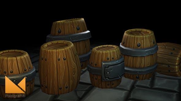 Fantasy Forge Handpainted Barrel Set - 3DOcean Item for Sale