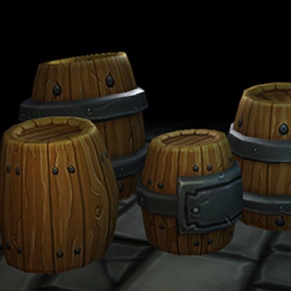 Fantasy Forge Handpainted Barrel Set