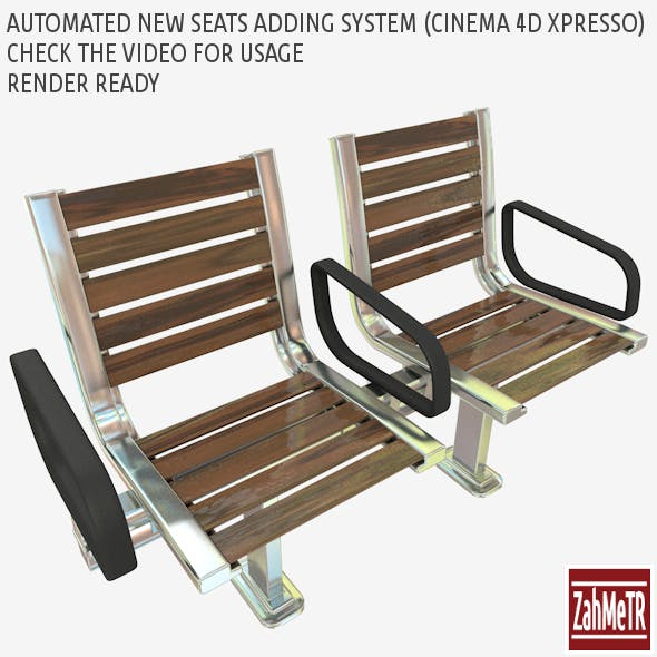 Seats with Automatic Adding Slider (Xpresso) - 3DOcean Item for Sale