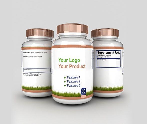 3d Medicine Bottles With 3 Sides V2 - 3DOcean Item for Sale