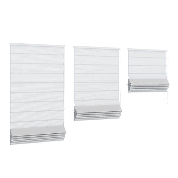 White Roman Blinds - 3DOcean Item for Sale