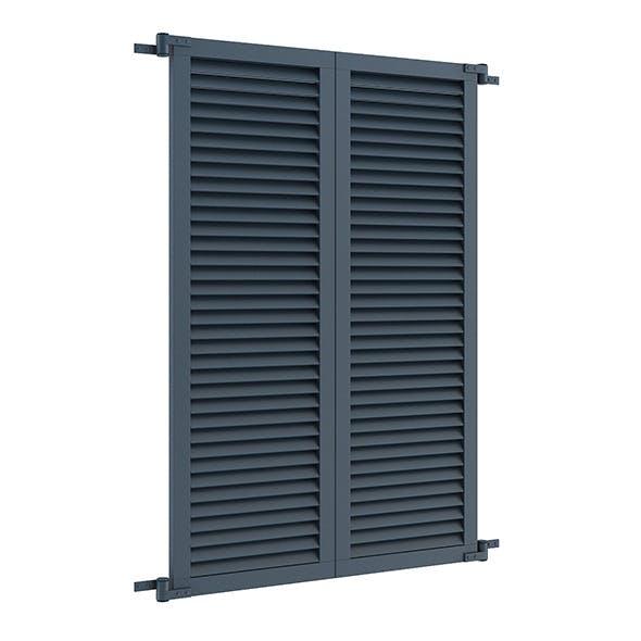 Blue External Shutters - 3DOcean Item for Sale