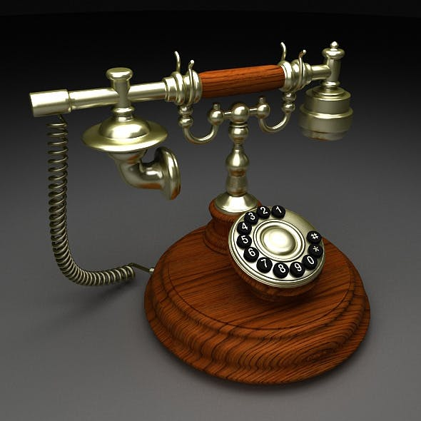 Old telephone  - 3DOcean Item for Sale