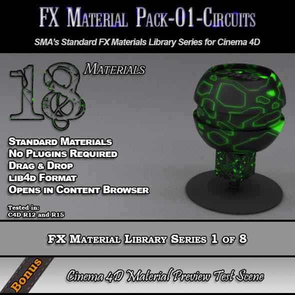Standard FX Material Pack-01-Circuits for C4D