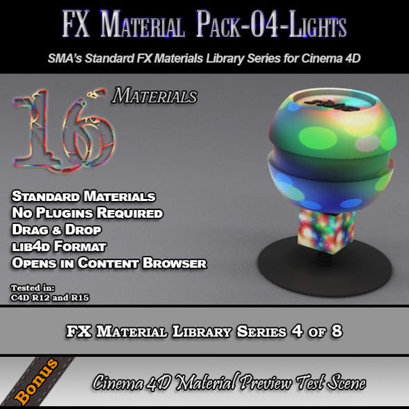 Standard FX Material Pack-04-Lights for Cinema 4D