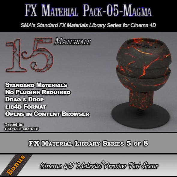 Standard FX Material Pack-05-Magma for Cinema 4D