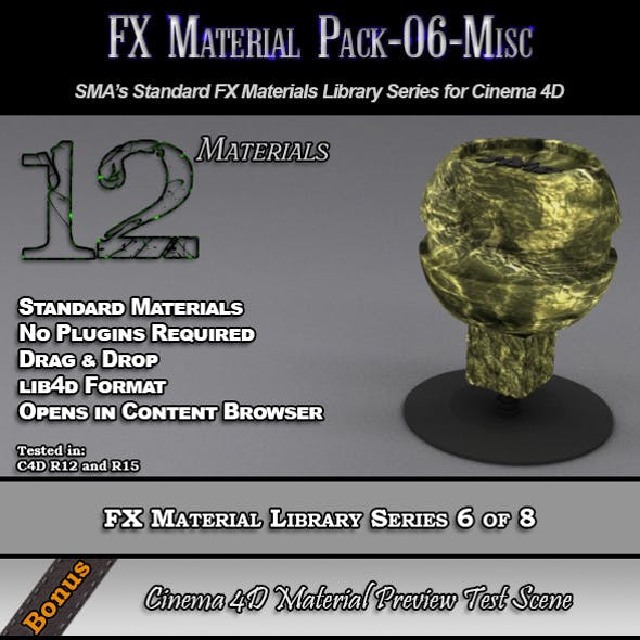 Standard FX Material Pack-06-Misc for Cinema 4D