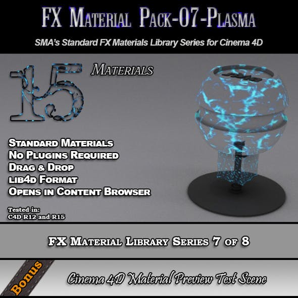Standard FX Material Pack-07-Plasma for Cinema 4D