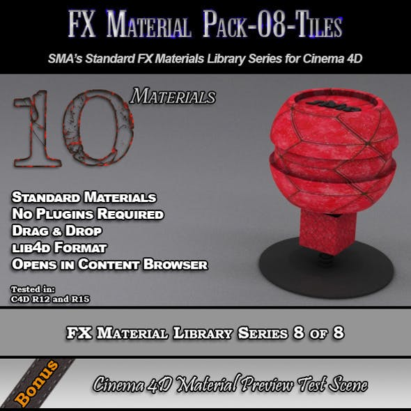 Standard FX Material Pack-08-Tiles for Cinema 4D