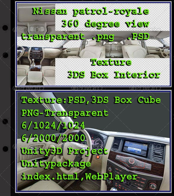 Nissan Patrol interior - 3DOcean Item for Sale