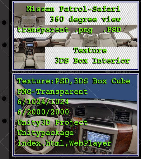 Nissan Patrol - Safari - Interior - 3DOcean Item for Sale
