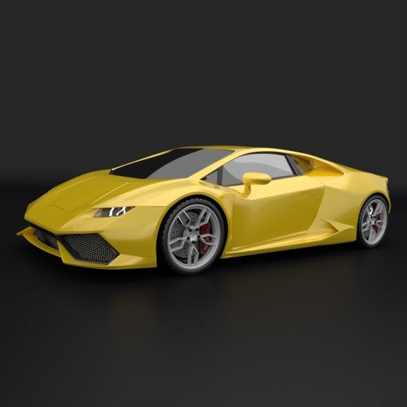 Lamborghini Huracan racing car restyled