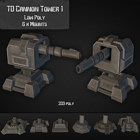 TD Cannon Tower 01 - 3DOcean Item for Sale