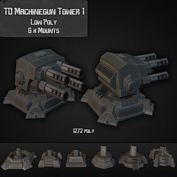 TD Machinegun Tower 01 - 3DOcean Item for Sale