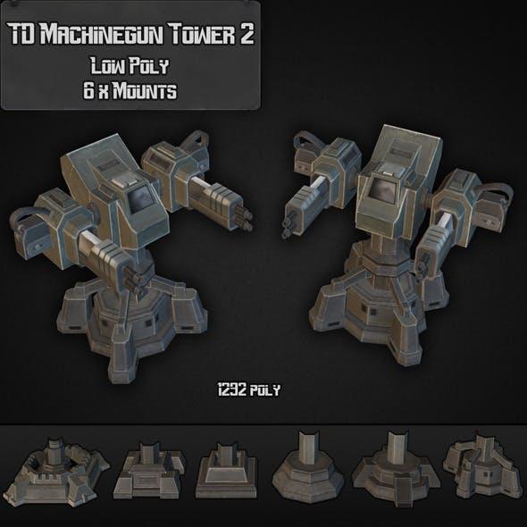 TD Machinegun Tower 02 - 3DOcean Item for Sale