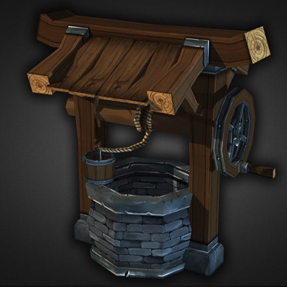 Water Well Low Poly