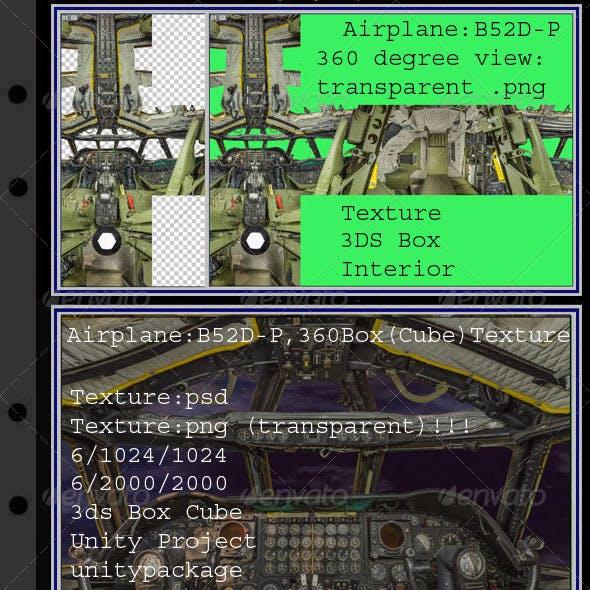 Airplane B52D-P interior