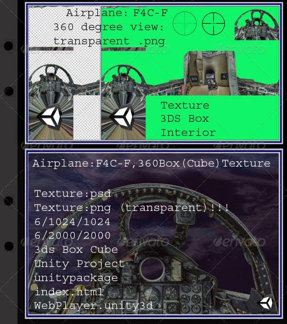Airplane F4C-F interior - 3DOcean Item for Sale