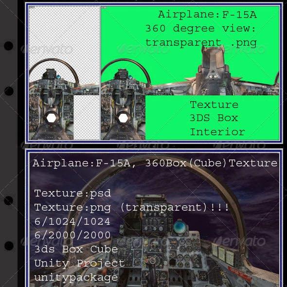 Airplane F-15A interior