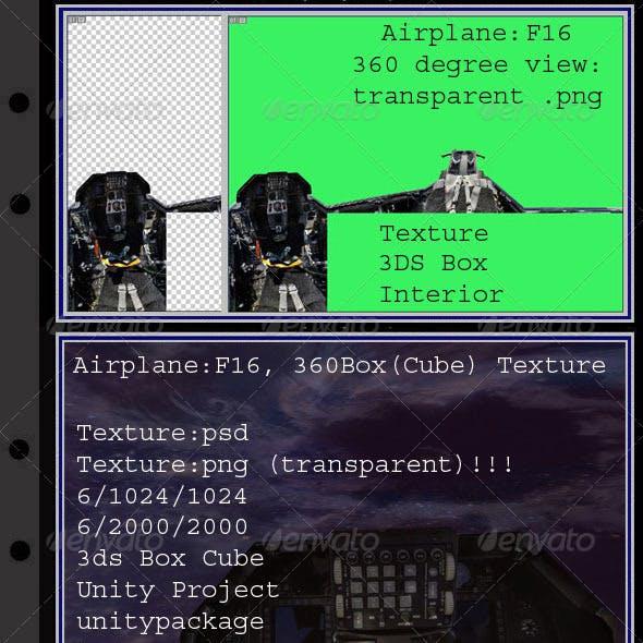 Airplane F16 interior