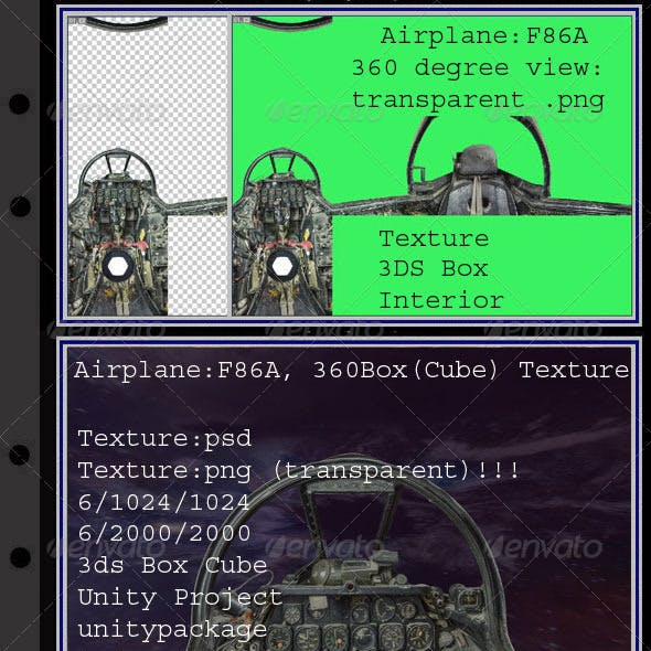 Airplane F86A interior