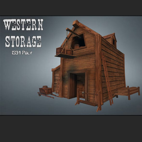 Western Storage - 3DOcean Item for Sale