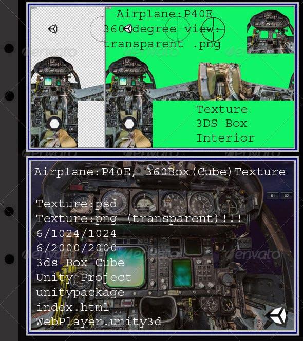 Airplane P40E interior - 3DOcean Item for Sale