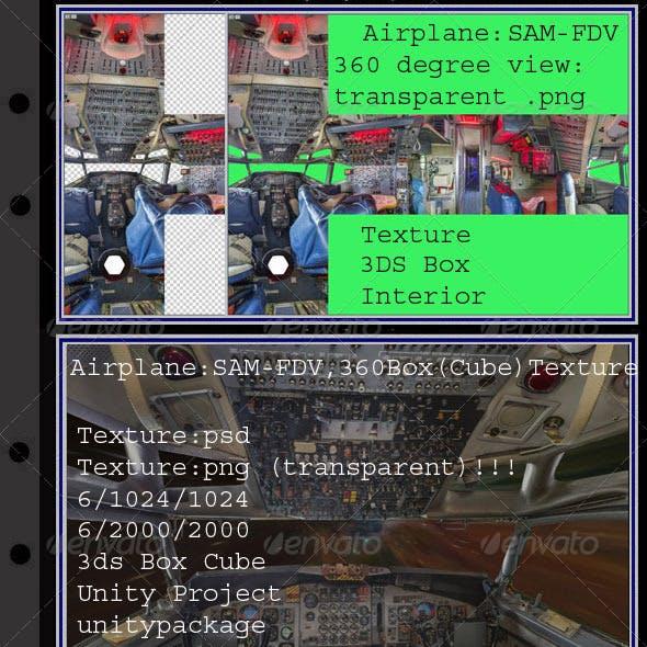 Airplane SAM26000-FDV interior