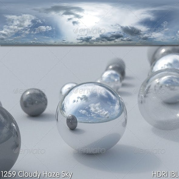 HDRI IBL 1259 Cloudy Hazy Sky - 3DOcean Item for Sale