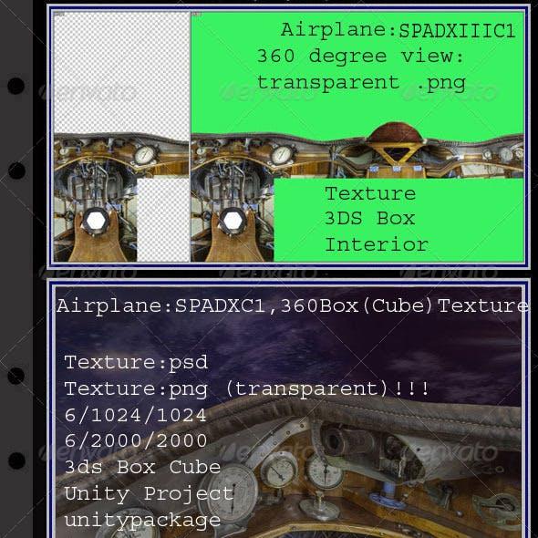 Airplane SPADXIIIC1 interior