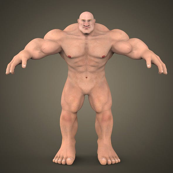 Fantasy Muscular Man
