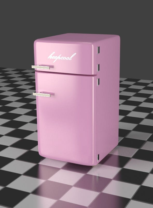 Fridge Freezer Combi pink - 3DOcean Item for Sale