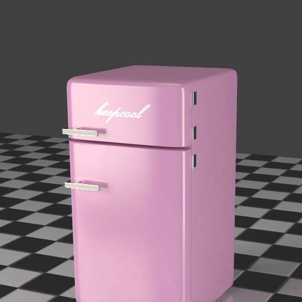 Fridge Freezer Combi pink