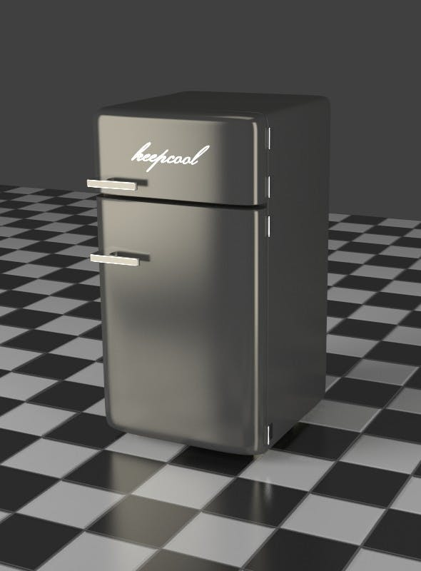 Fridge Freezer Combi gray - 3DOcean Item for Sale