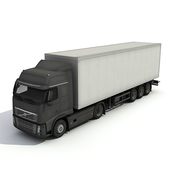 Big Truck With Trailer - 3DOcean Item for Sale