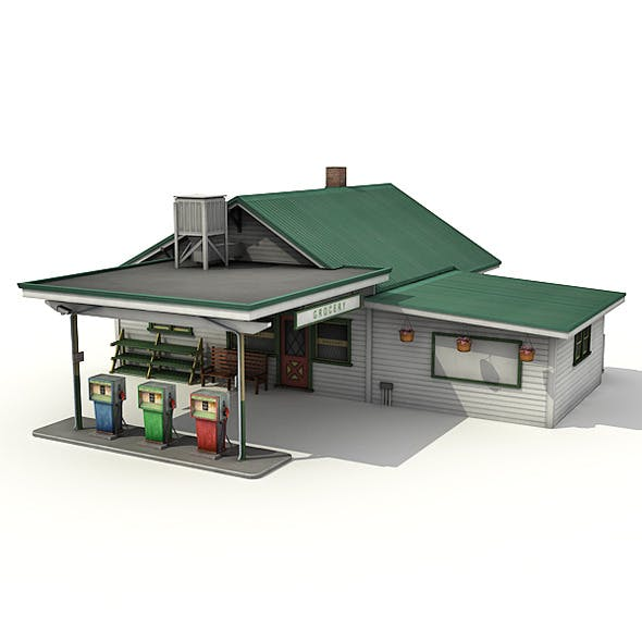 Gas Station With Grocery