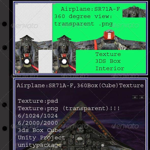 Airplane SR71A-F interior