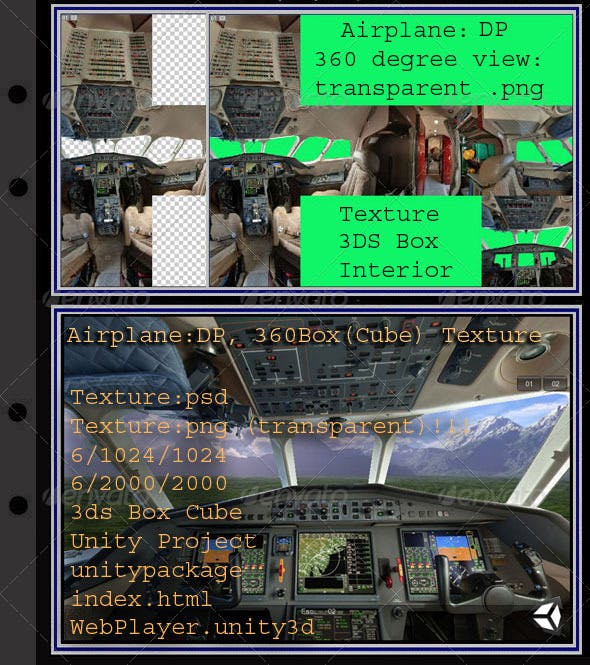 Airplane DP interior - 3DOcean Item for Sale