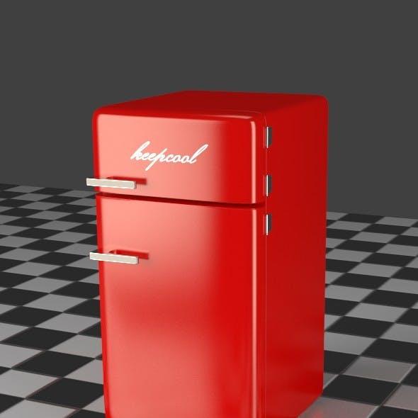 Fridge Freezer Combi red