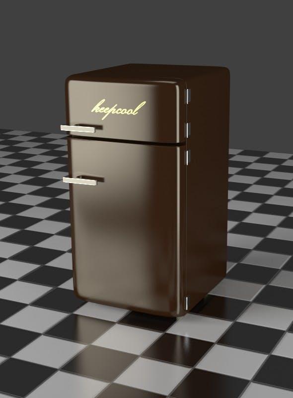 Fridge Freezer Combi brown - 3DOcean Item for Sale